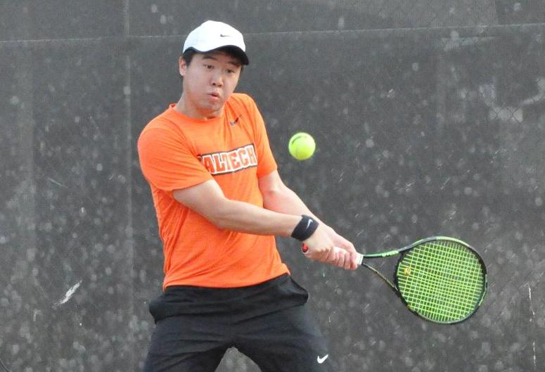 Liu's Eighth Straight Helps Men's Tennis to 8-1 Win over Oxy