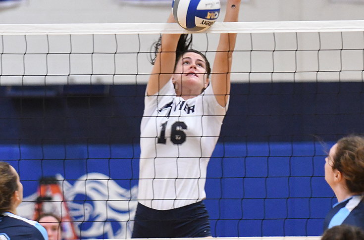Women's Volleyball: Whyte's 18 kills lead Rivier past USM, 3-1
