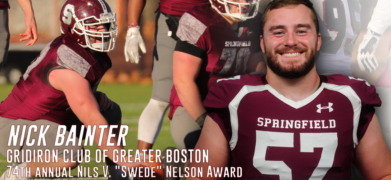 "Bainter Selected For Nils V. ""Swede"" Nelson Award By Gridiron Club of Greater Boston"
