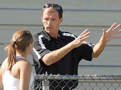 Bulldog men's & women's tennis coach Alex Palladino