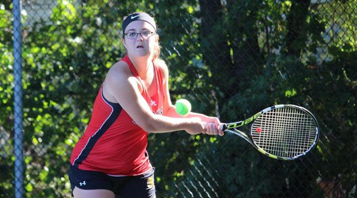 Women's Tennis Collects 7-2 Win at Curry in Season-Opener
