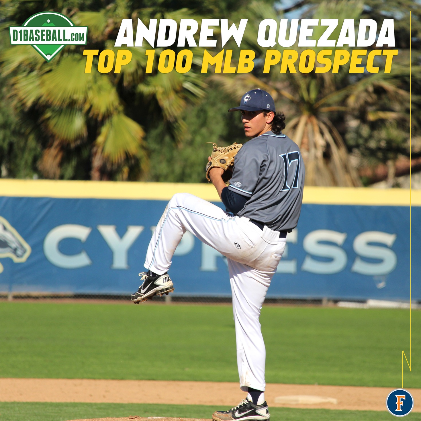Andrew Quezada Earns Spot on D1Baseball's Top 100 MLB Prospects List