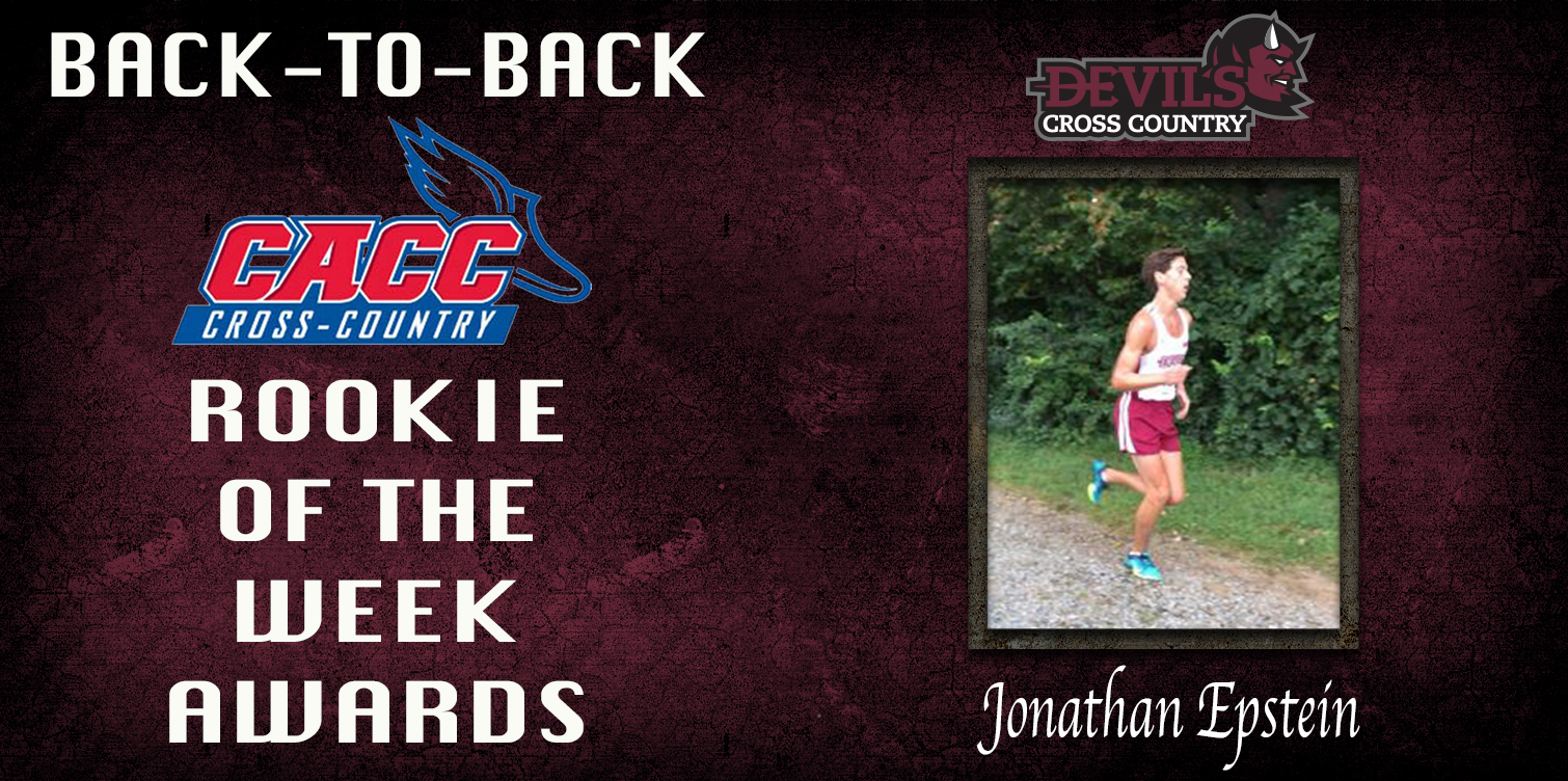 Epstein Wins Second Straight CACC Men's Cross Country Rookie of the Week Award to Open Season