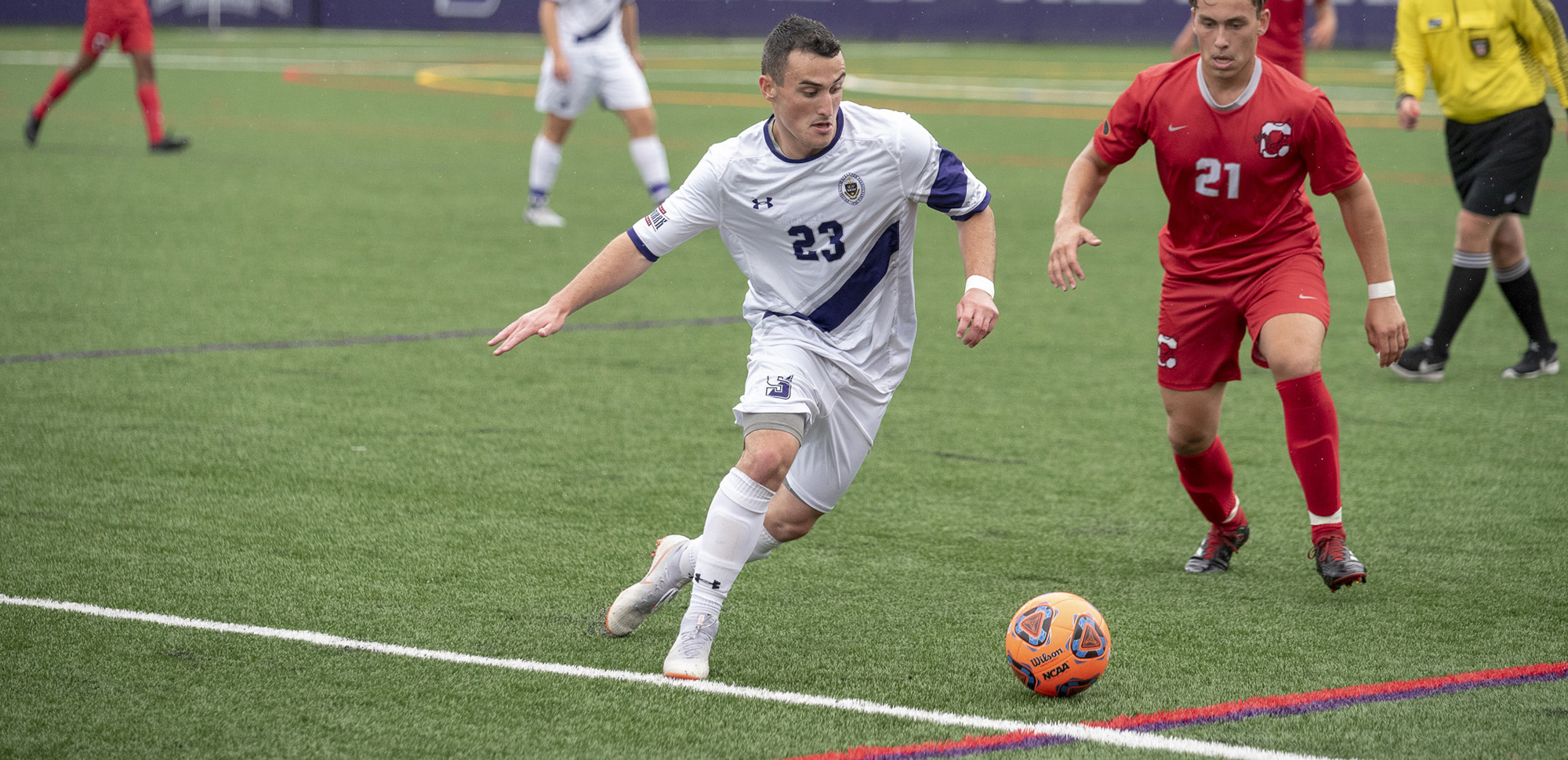 Men's Soccer Blanks Goucher for First Landmark Conference Win