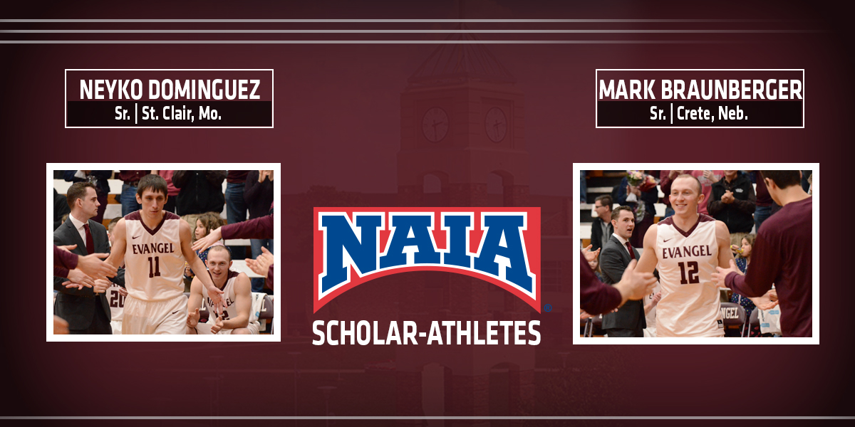 Braunberger and Dominguez Named to Daktronics NAIA Scholar-Athlete Team
