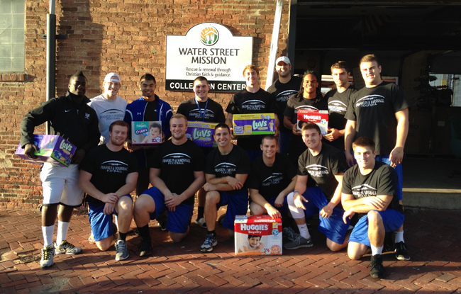 Football Donates Over 8,500 Diapers to WSM