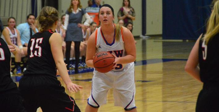Scharmer records double-double to lead Women's Basketball past Edgewood