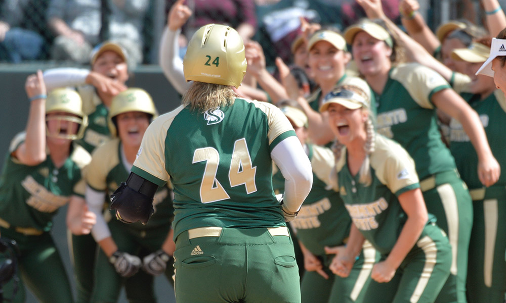 STRONG AND AUBERT BOTH HIT WALKOFF HOMERS AS SOFTBALL SWEEPS MONTANA