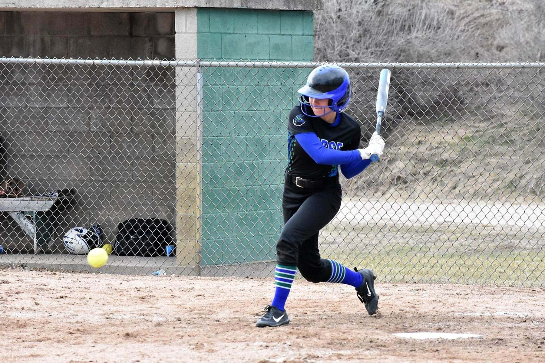 Bay Sweeps the Blue Knights in Doubleheader Action