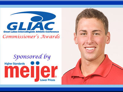 Kyle Revall Claims GLIAC Commissioner's Award