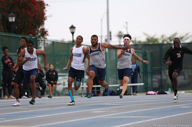 File Photo: The Falcons placed second in the 4x100-meter relays