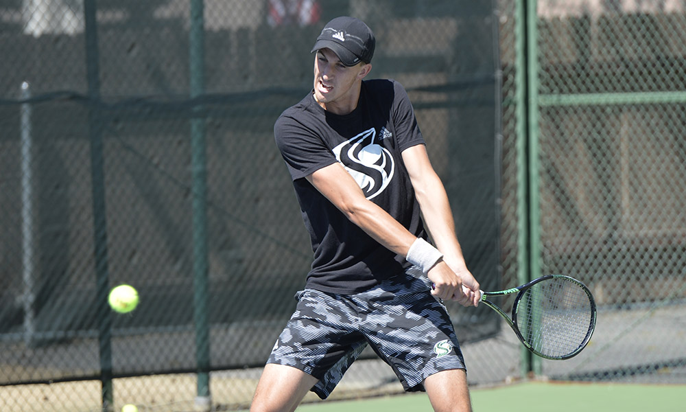MEN'S TENNIS KEEPS IT CLOSE, BUT FALLS TO 21ST-RANKED SMU, 5-2