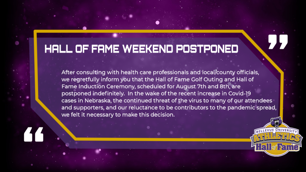 2020 Hall of Fame Events Postponed