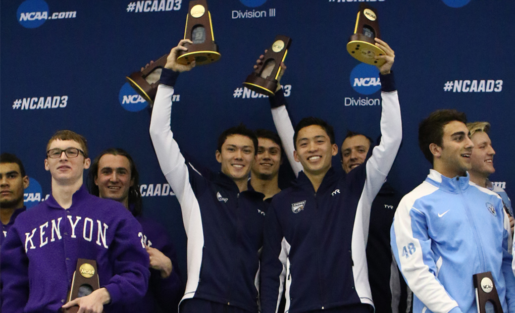 200 Free Relay Title Highlights Day Two for Emory Men's Swimming & Diving