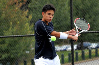 Men's tennis sails past Coast Guard, 9-0