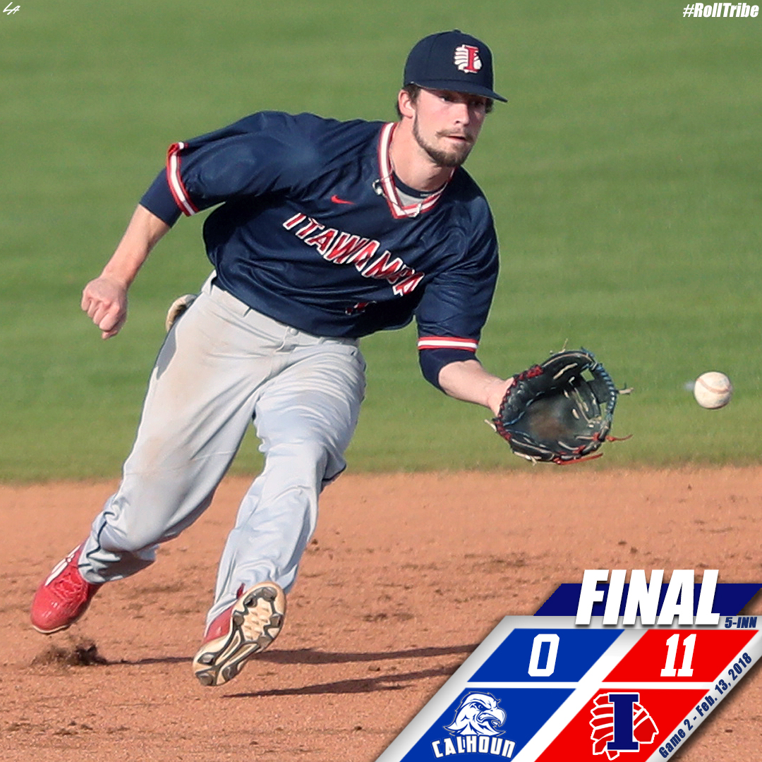 Indians sweep Calhoun with 11-0 win in Game 2