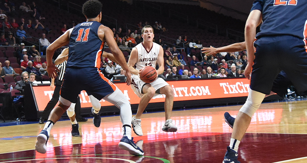Men's Basketball Falls in Opening Round of WCC Tournament to Pepperdine