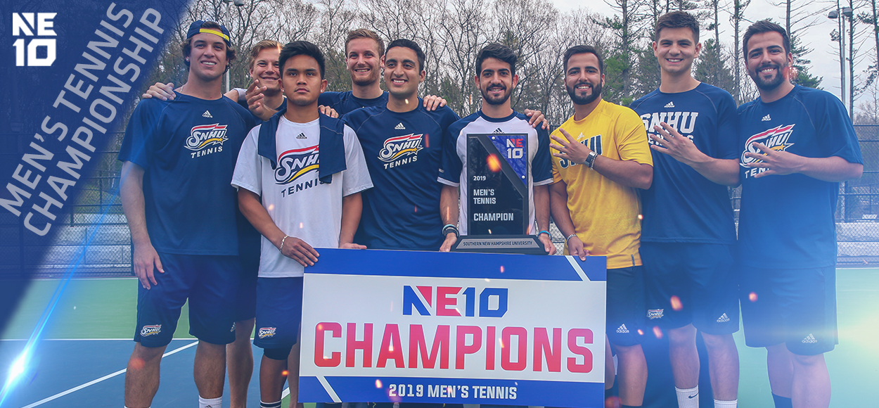 Embrace the Championship: SNHU Holds Off Merrimack for NE10 Men's Tennis Title
