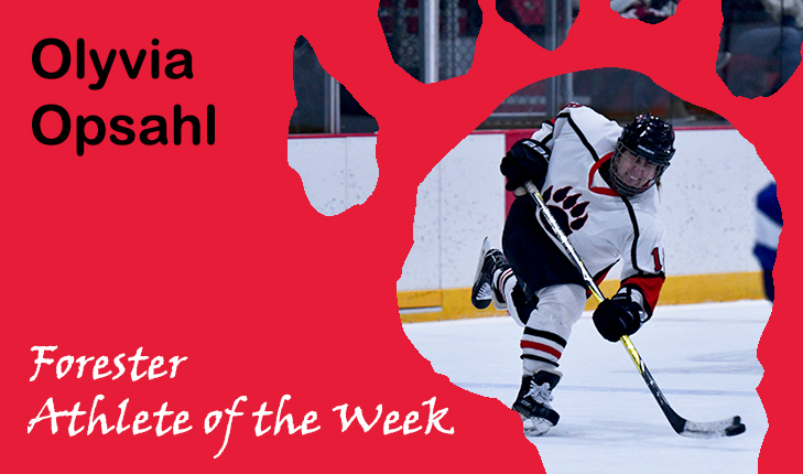 Olyvia Opsahl Voted Forester Athlete of the Week