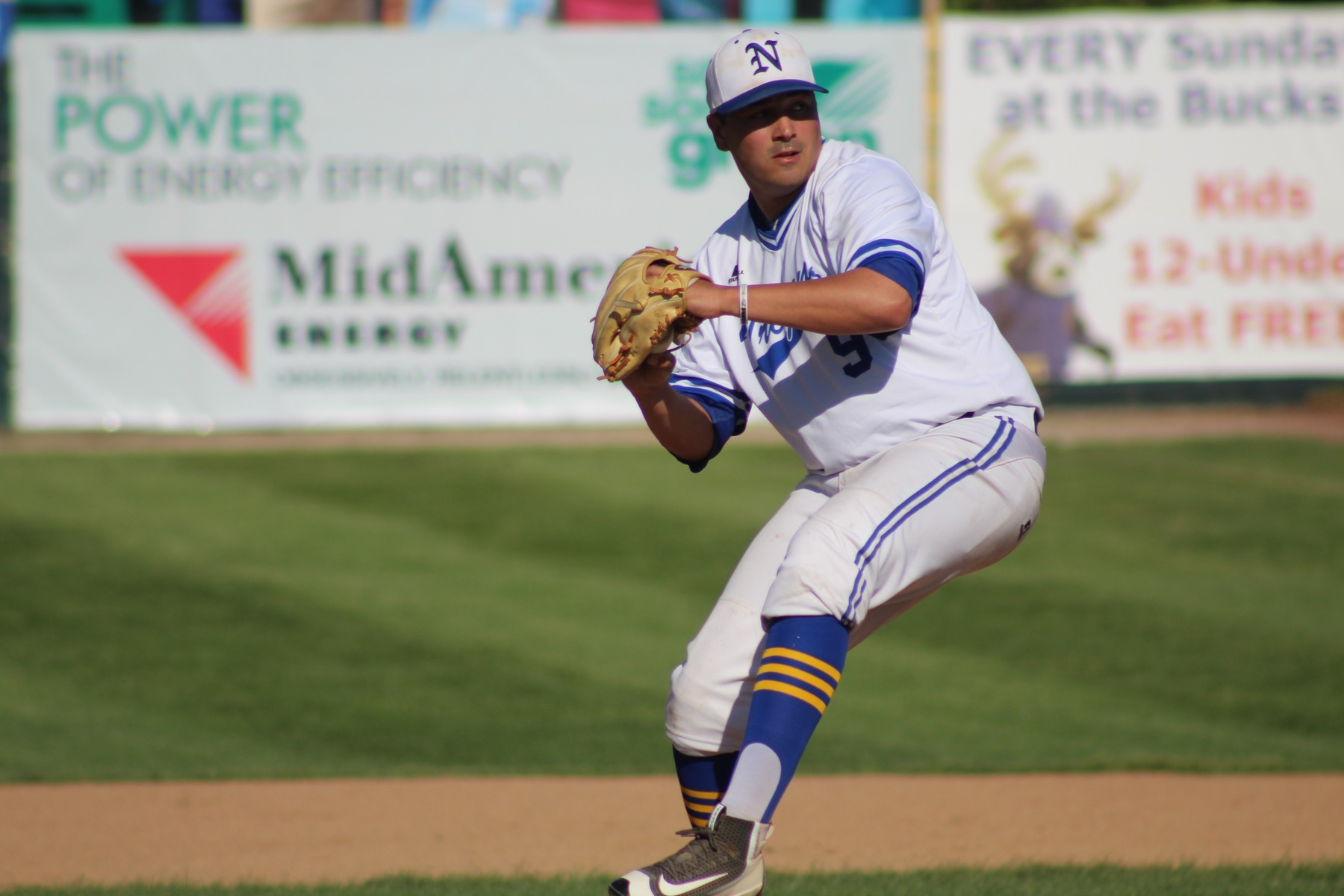 Jarod Large delivers a pitch for NIACC in Friday's win over Southeastern.