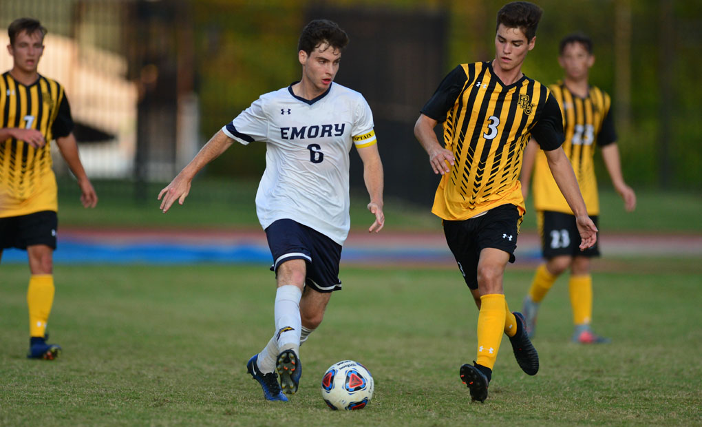 Emory Men's Soccer Wins Fourth Straight; Blanks Carthage 3-0