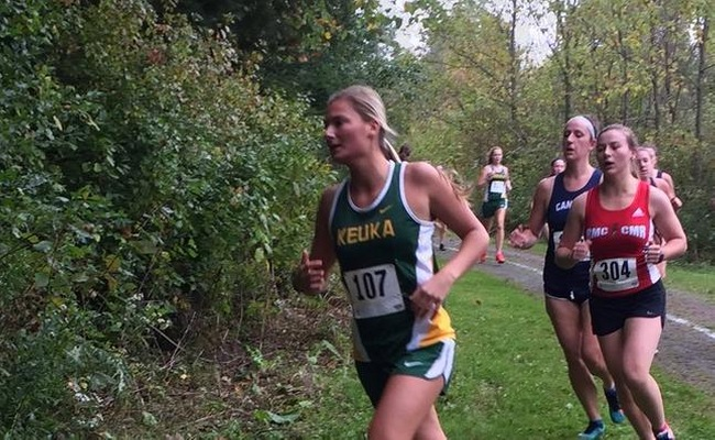 Kara Kowalski competing in the 6K for the Wolves on Saturday