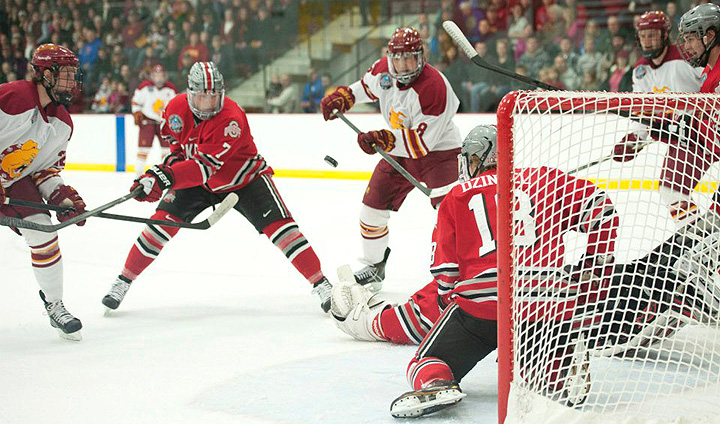 Bulldog Hockey Wins Game One Over Ohio State In CCHA Playoffs