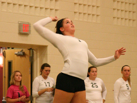 Volleyball Falls in Home Match vs. Wayne State