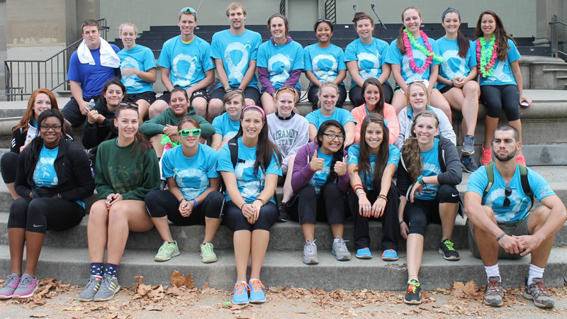 Rowing Participates in Fundraiser for Lung Cancer Awareness