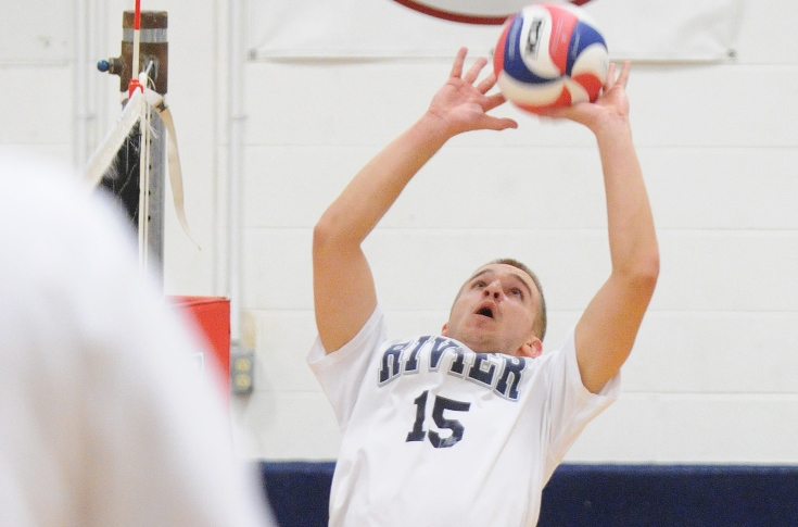 Men's Volleyball: Rivier blanks Johnson & Wales, 3-0