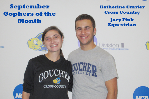 Goucher Recognizes Fink, Currier as Month's Top Athletes