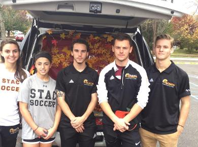 Soccer Teams Participate at Trunk or Treat