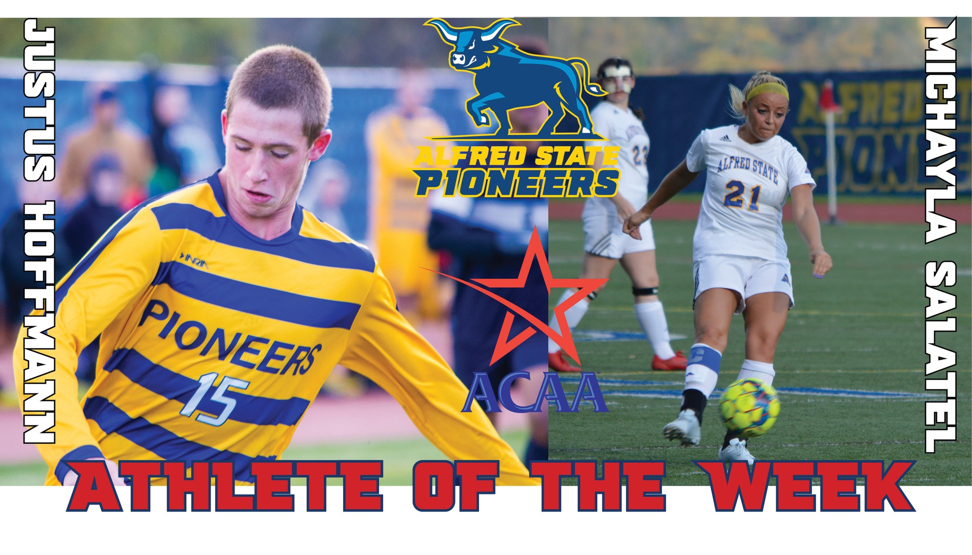 Hoffmann and Salatel named ACAA Player of the Week