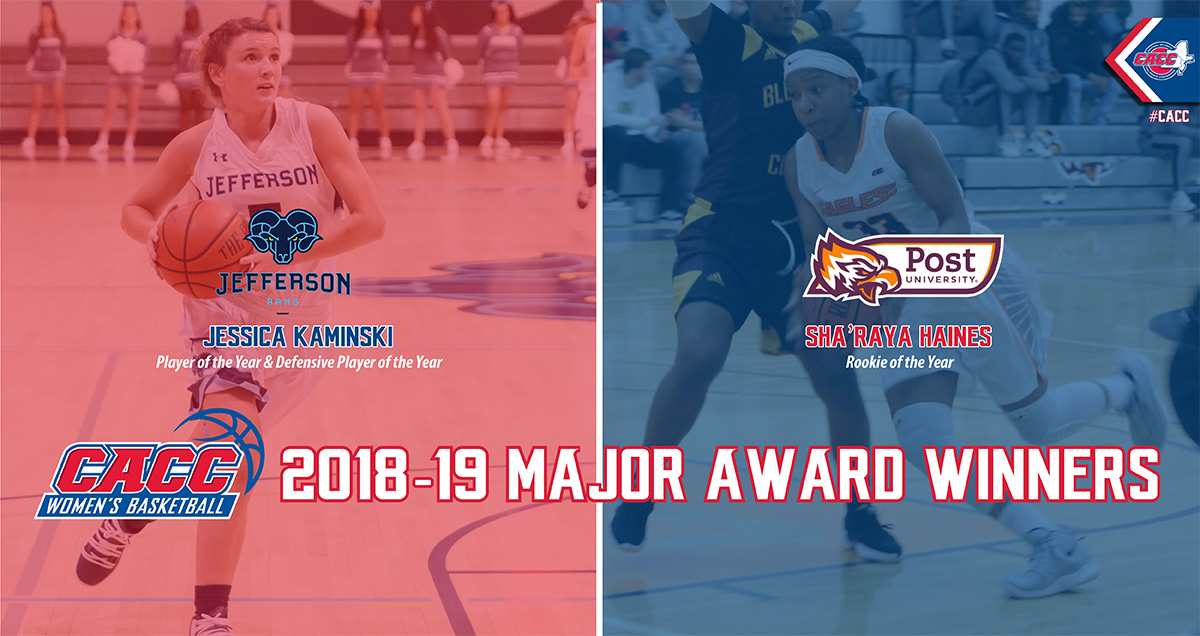 Jefferson's Jessica Kaminski Named 2018-19 CACC Women's Basketball Player & Defensive Player of the Year; All-League Teams Announced