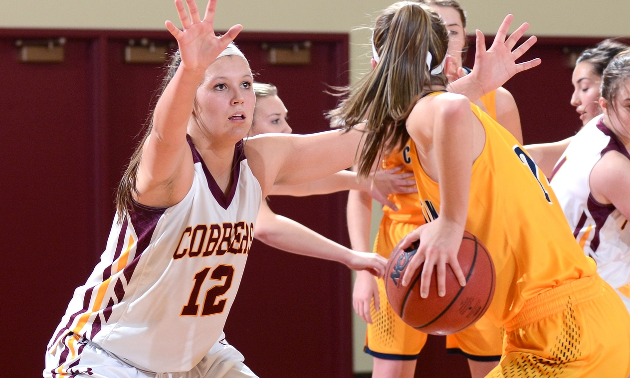 Junior Crystal Amundson had a season-high eight rebounds in the Cobbers' loss at St. Benedict.