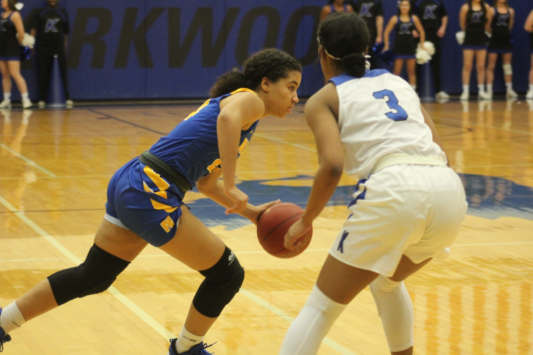 NIACC's Tahya Campbell drives to the basket in Saturday's game against Kirkwood.