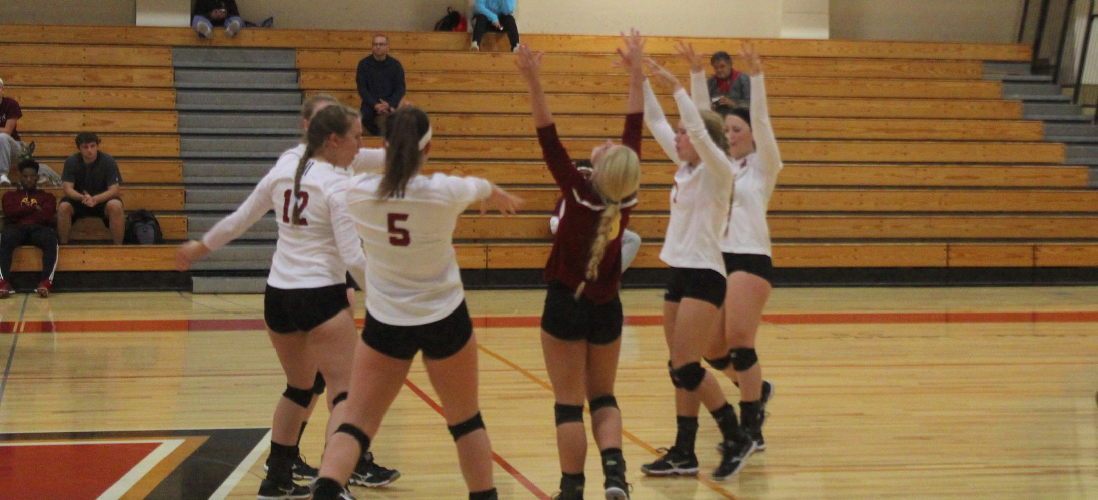 Women's Volleyball Sweeps Elms