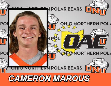Freshman Cameron Marous named OAC Offensive Player of the Week