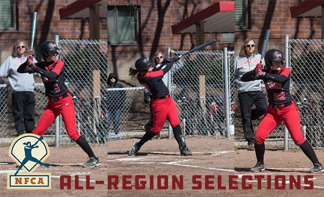 Three Named To NFCA All-Region Teams