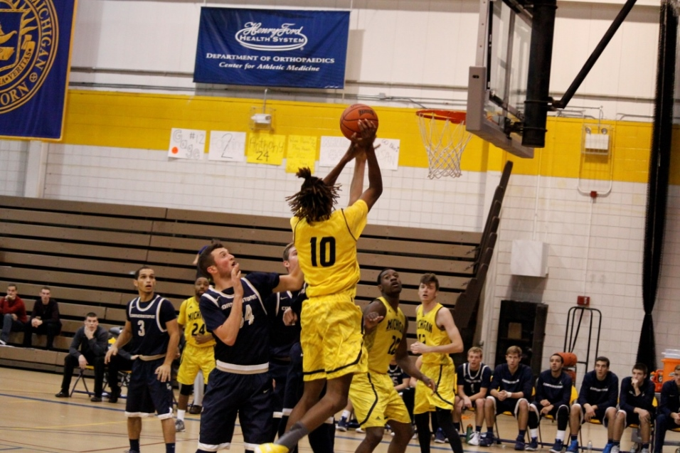 Junior Marcus Williams (shown here on December 5) had 18 points against Siena Heights  Photo courtesy of Ricky Lindsay