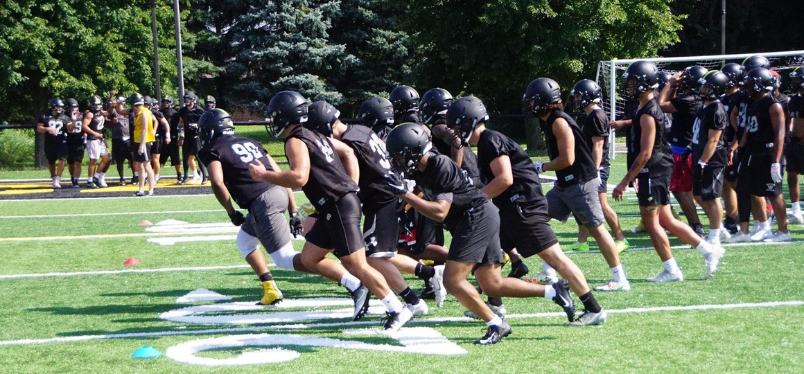 Football Wraps Up First Day Of Camp