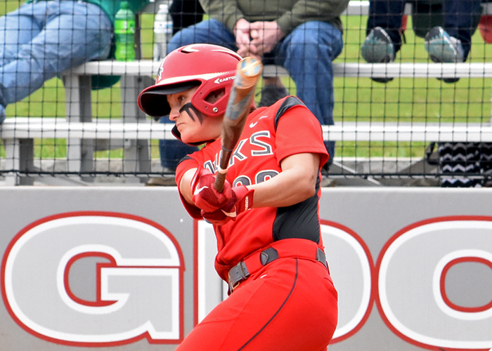 Madison Perryman was 4-for-6 with an RBI, two runs, a double and a triple in Saturday's sweep of Salem.