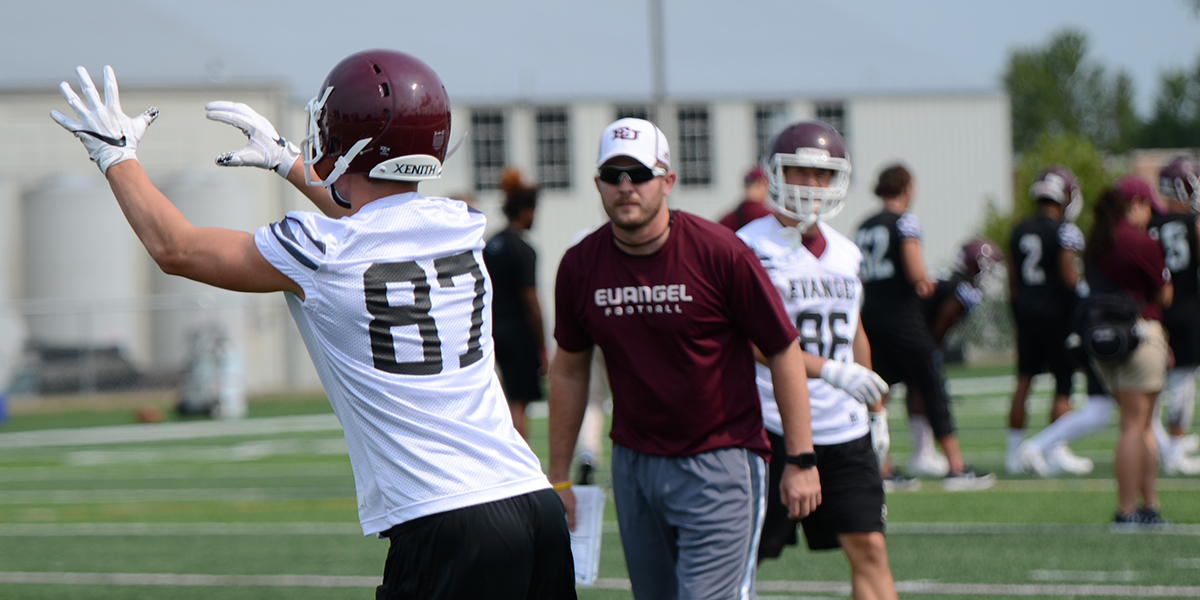 Evangel Football Adds Taylor Higgins to Staff