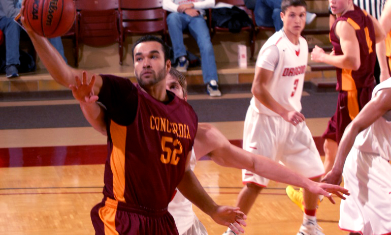 Cobber junior center Isaac Anderson was 5-for-6 and finished with a career-high 12 points in the team's win over Crown.