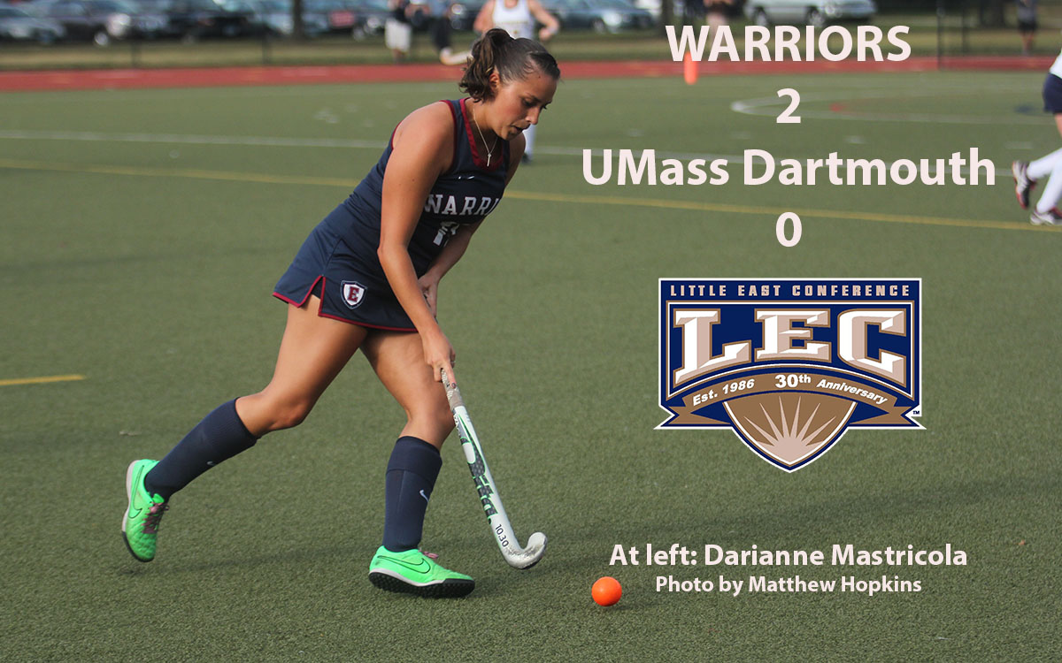 Field Hockey: Warriors Get over the Hump, End 10-Game Skid Against UMass Dartmouth