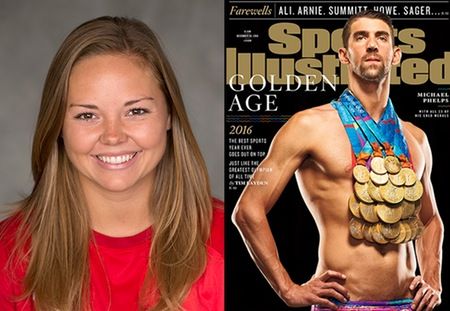 Lizzy Crist of Washington University Featured in Sports Illustrated Faces in the Crowd
