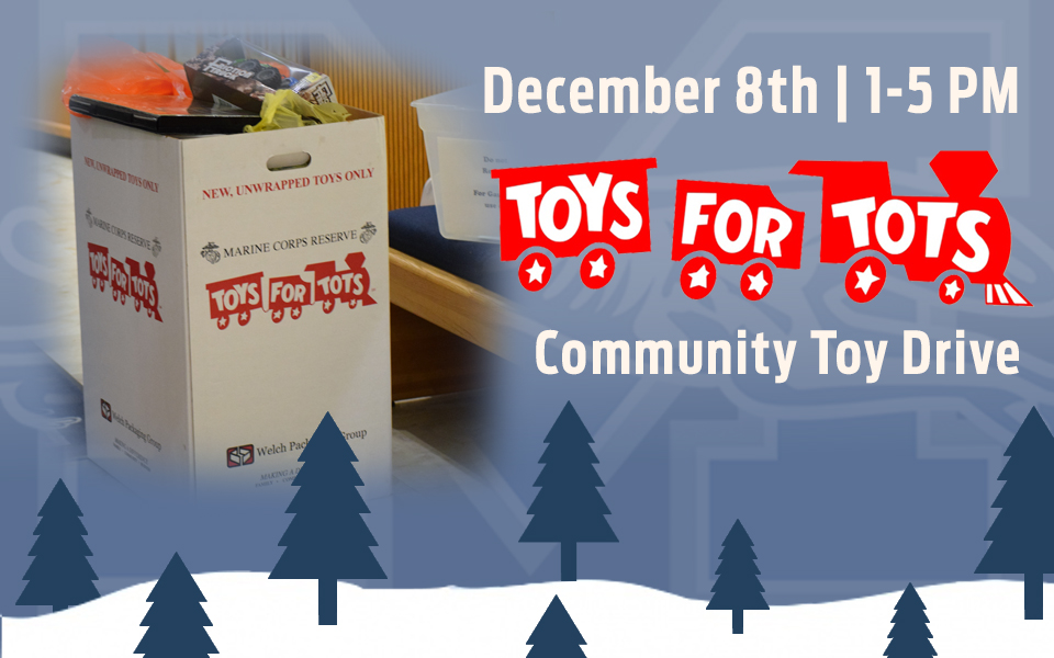 Toys for Tots donation drive set for December 8 in Johnston Hall from 1:00 until 5:00 p.m.