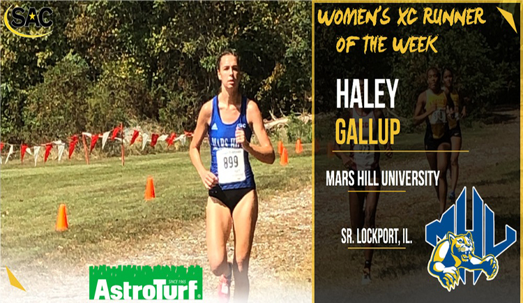 Gallup named SAC Cross Country Runner of the Week