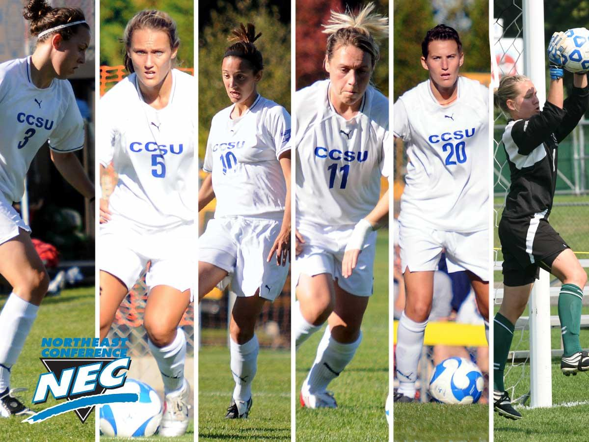 Six Blue Devils Named All-NEC at Women's Soccer Banquet on Thursday Night