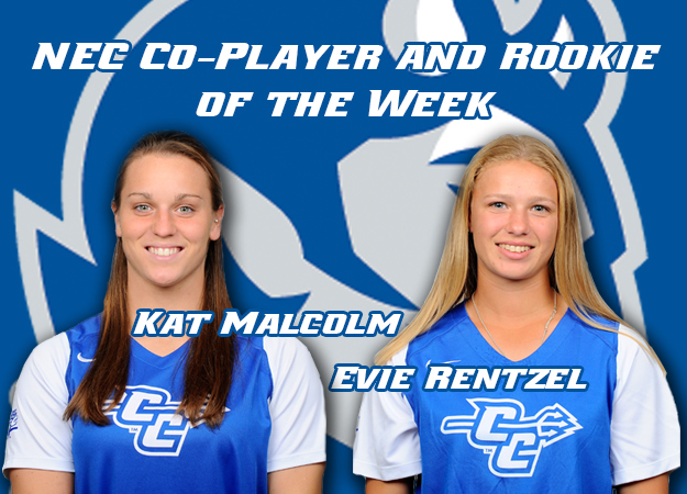 Malcolm and Rentzel Earn NEC Honors